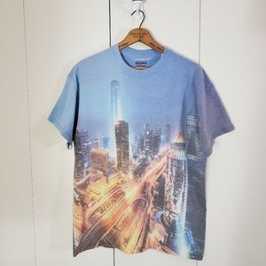 Gildan Cityscape Dye Sublimation Double Sided Tee